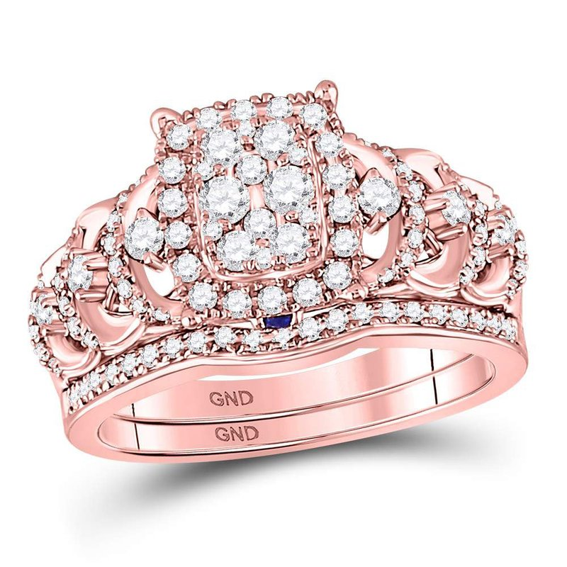 Jewelry By Robins 14kt Rose Gold Womens Round Diamond Vintage