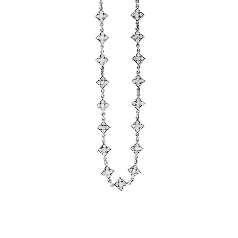 King Baby Small Mb Cross Chain Necklace W/ Cz Stones