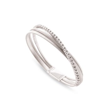 Masai Three Strand White Gold and Diamond Bracelet