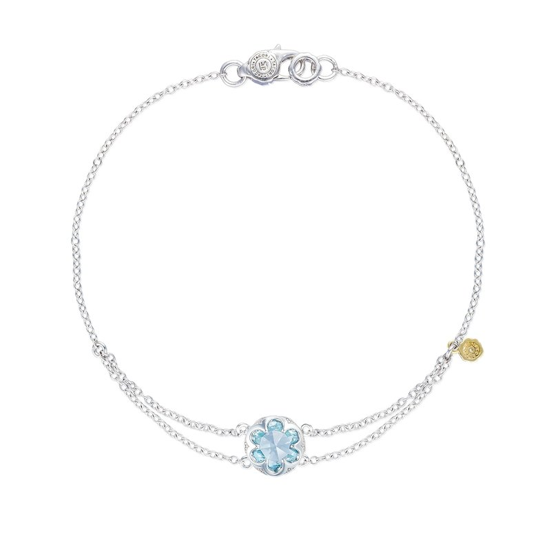 Tacori Fashion Petite Split Chain Bracelet featuring Sky Blue Topaz