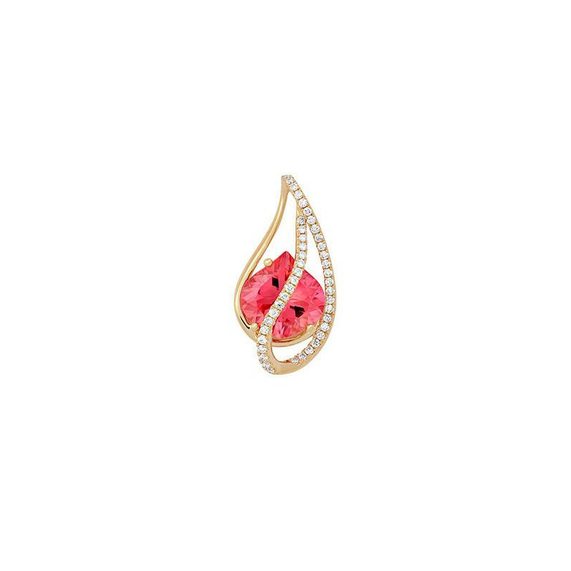 Chatham Padparadscha Pendant-CP4187YPD