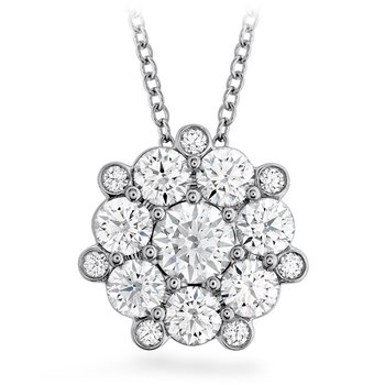 1.45 ctw. Beloved Cluster Diamond Pendant