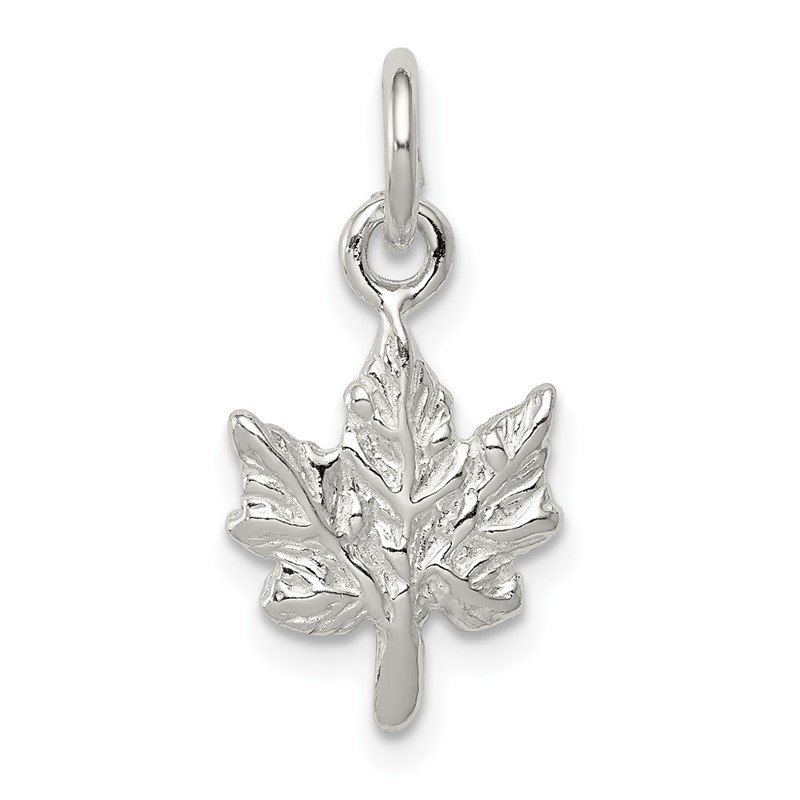 Quality Gold Sterling Silver Maple Leaf Charm