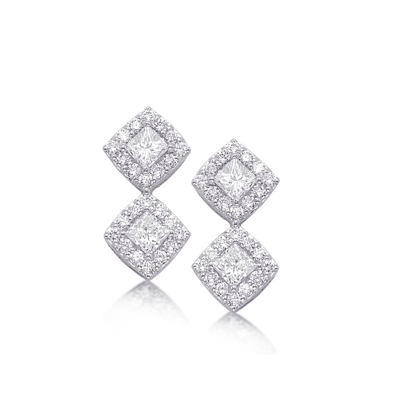 Briana White Gold Diamond Earring
