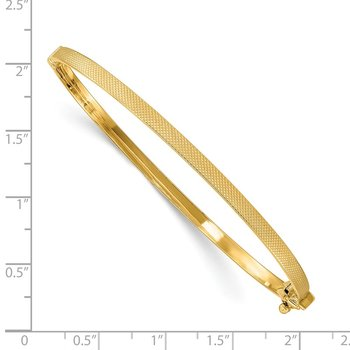 14K Textured Hinged Bangle