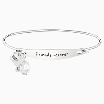 Friends Forever ID Bangle - Silver
