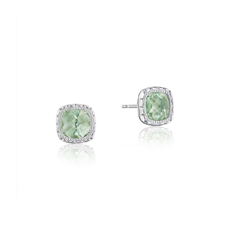 Tacori Fashion Cushion Gem Earrings with Prasiolite