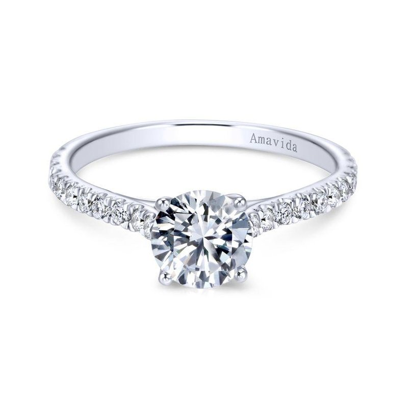 Amavida 18K W.Gold Diamond Engagement Ring