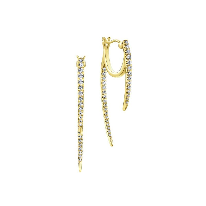 Gabriel Fashion 14K Y.Gold Diamond Earring