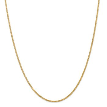 14k 2mm Semi-Solid Wheat Chain Anklet