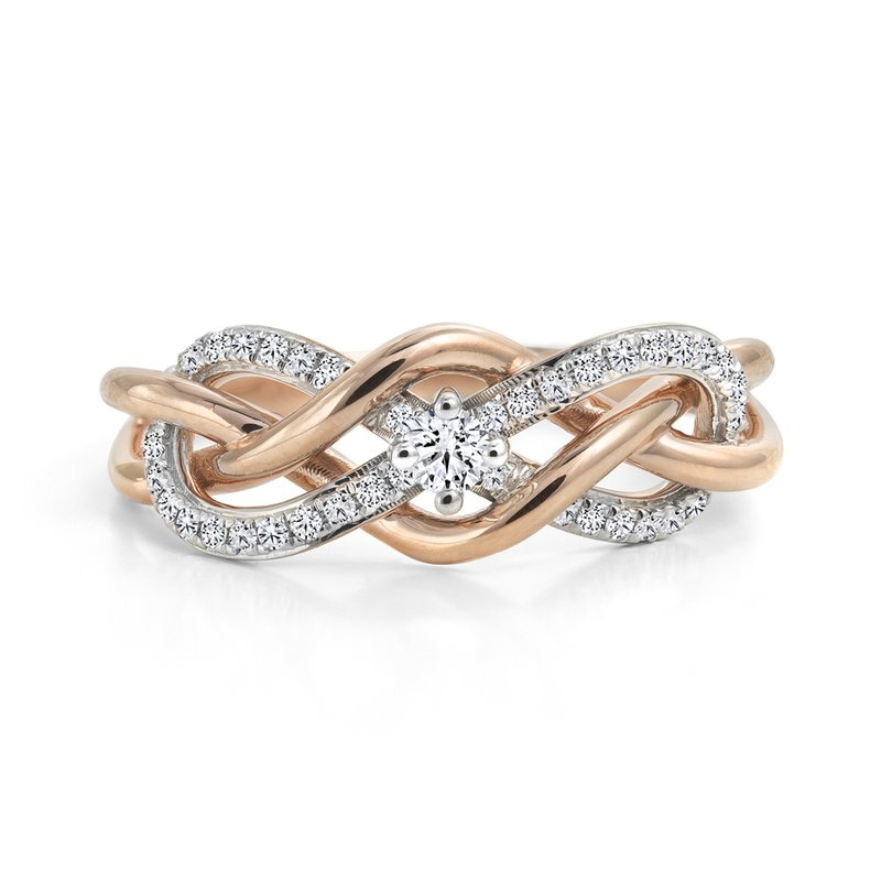 Canadian Rocks Entwined Infinity Diamond Ring