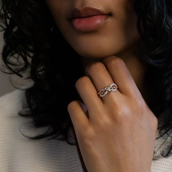 Entwined Infinity Diamond Ring
