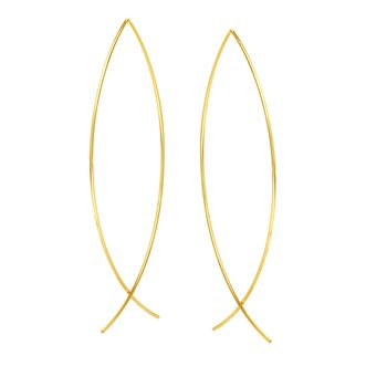 14K Yellow Gold Threader Wire Earrings