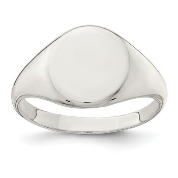 Sterling Silver 13x10mm Closed Back Signet Ring