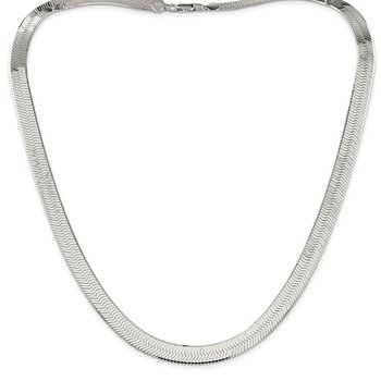 Sterling Silver 8.75mm Magic Herringbone Chain
