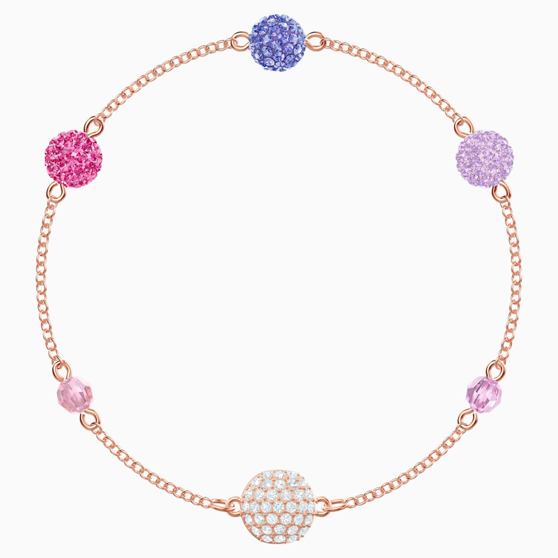 Swarovski Swarovski Remix Collection Pop Strand, Purple, Rose-gold tone plated