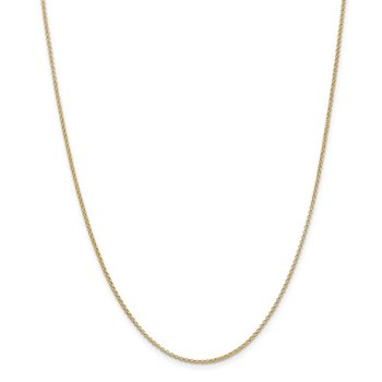 14k 1.55mm Rolo Pendant Chain