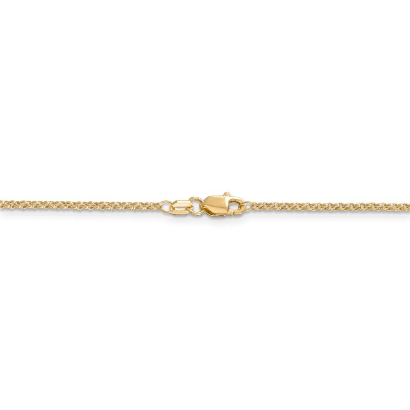 Quality Gold 14k 1.55mm Rolo Pendant Chain