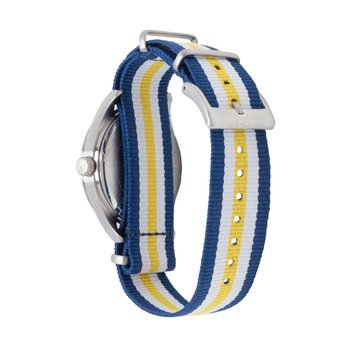 West Virginia Mountaineers Men's Striped NATO Strap Watch