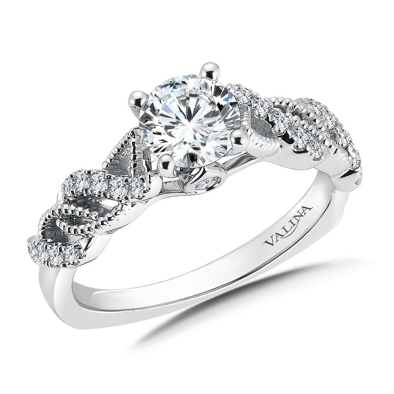 Diamond Engagement Ring Mounting in 14K White Gold (.20 ct. tw.)
