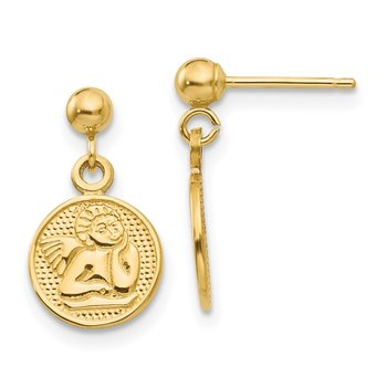 14k Polished Raphael Angel Earrings