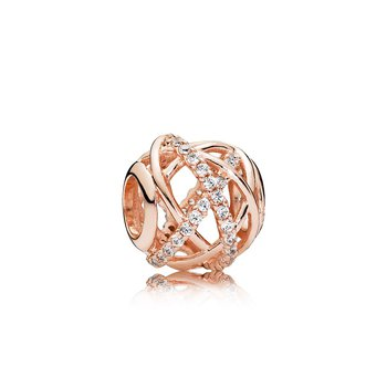 Galaxy Charm, Pandora Rose™ Clear Cz