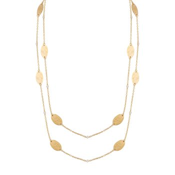 14KY OVAL GOLD-BY-THE-YARD NECKLACE .20CT