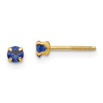 14k Madi K 3mm Synthetic Birthstone Earrings