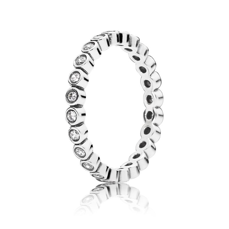 PANDORA Alluring Petite Brilliant Stackable Ring, Clear CZ