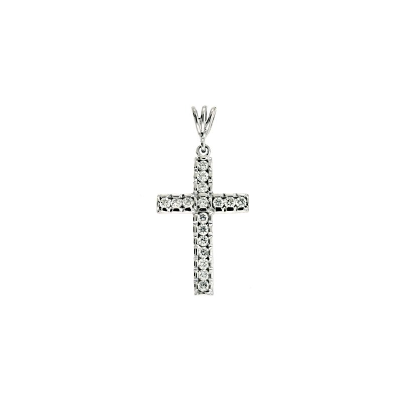 Briana White Gold Diamond Cross