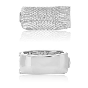 Wide Diamond Bangle