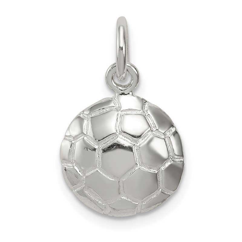 Quality Gold Sterling Silver Soccer Ball Charm