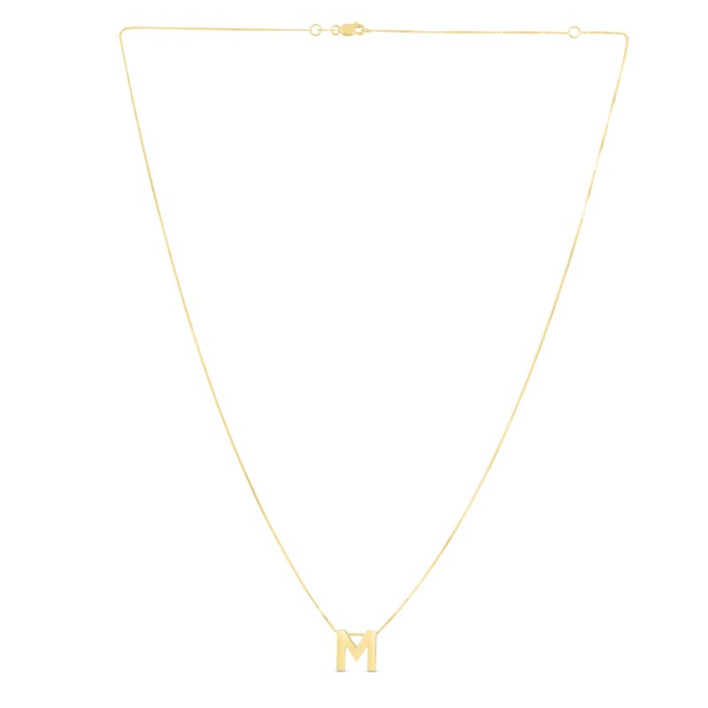 Royal Chain 14K Gold Block Letter Initial M Necklace