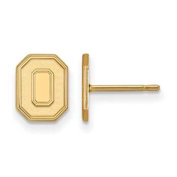 Gold Ohio State University NCAA Earrings