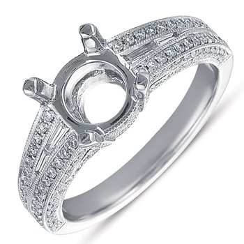 White Gold Pave Engagement Ring