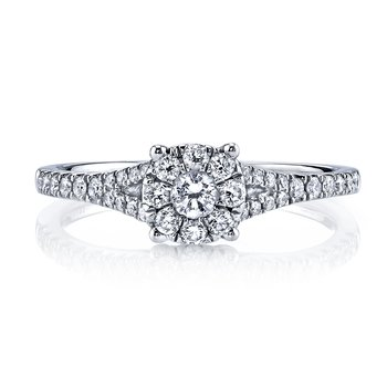 MARS 25789 Diamond Engagement Ring 0.42 Ctw.