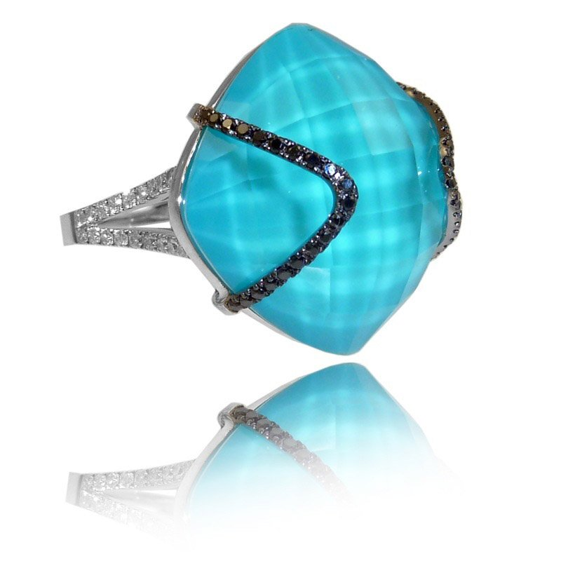 Doves St. Barths Blue Turquoise Ring
