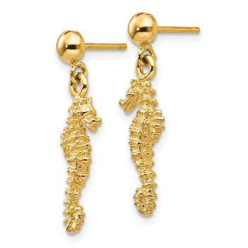 14k Seahorse Dangle Earrings