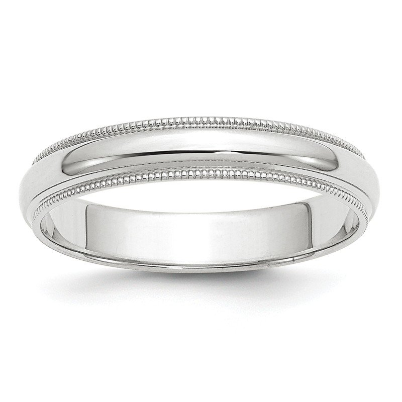 Quality Gold 14k White Gold 4mm Milgrain Band