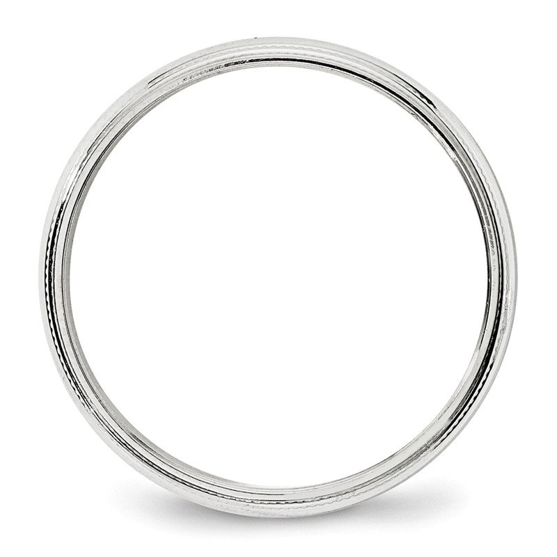 14k White Gold 4mm Milgrain Band
