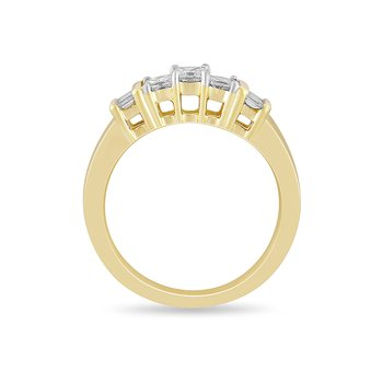 14K YG Diamond Engagement Ring