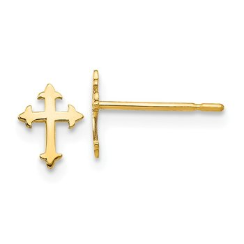 14k Madi K Children's Cross Post Earrings
