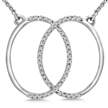Diamond Pendant in 14K White Gold (.20 ct. tw.)
