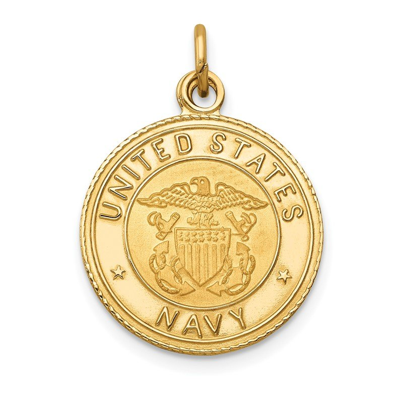 Quality Gold 14k U.S. NAVY Insignia Disc Pendant