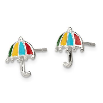 Sterling Silver Enameled Post Earrings