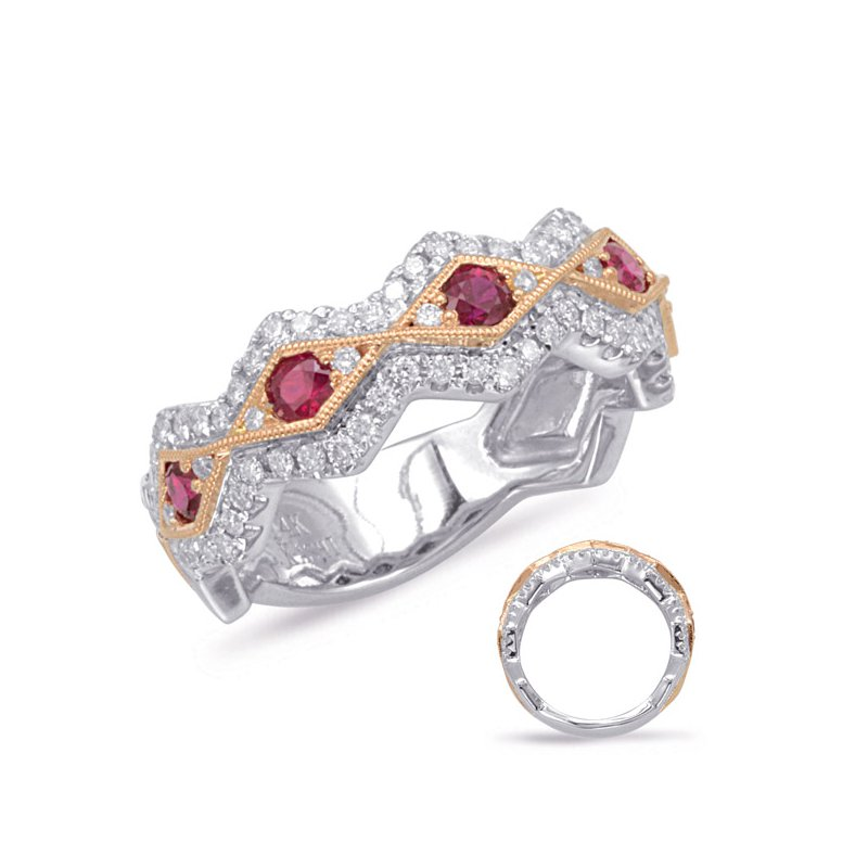 Briana Rose & White Gold Ruby & Diamond Ring