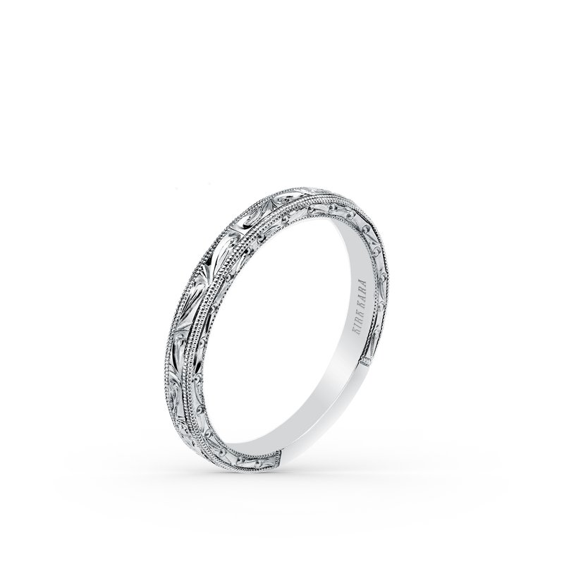 Kirk Kara Intricate Engraved Milgrain Vintage Wedding Band
