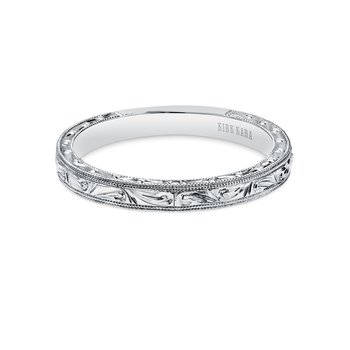 Intricate Engraved Milgrain Vintage Wedding Band