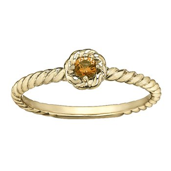 Citrine Ladies Solitaire