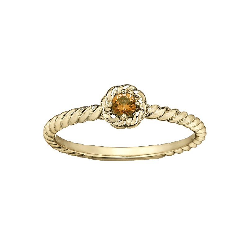 Lasting Treasures™ Citrine Ladies Solitaire